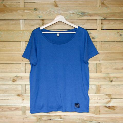 TshirtFemme-Bleu denimetiquettenbas